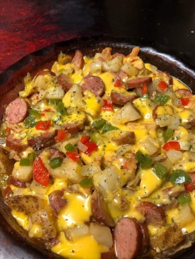 Cheese Potato & Smoked Sausage Casserole