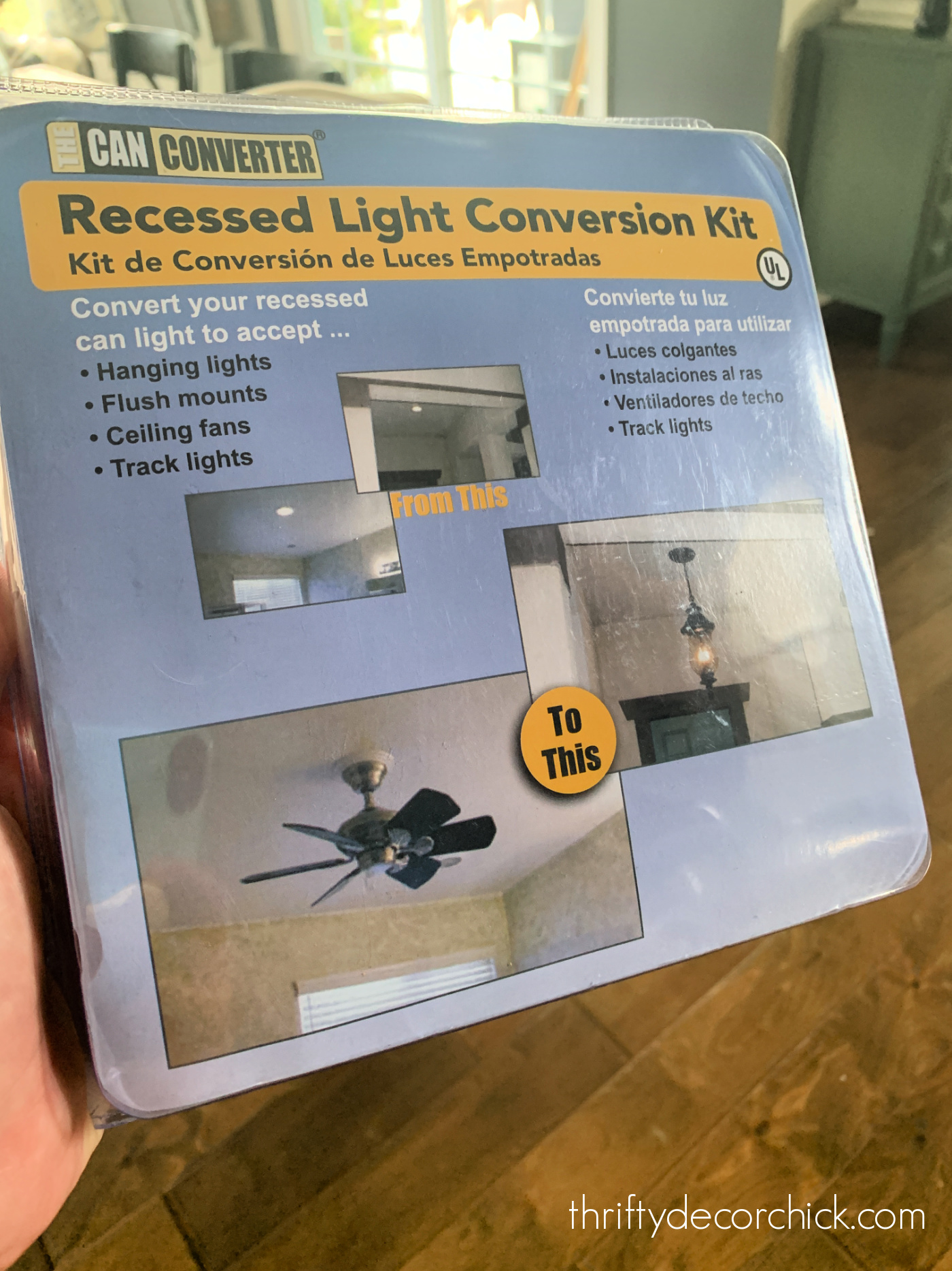 recessed can to light fixture kit