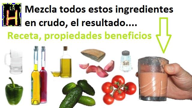 beneficios del gazpacho natural