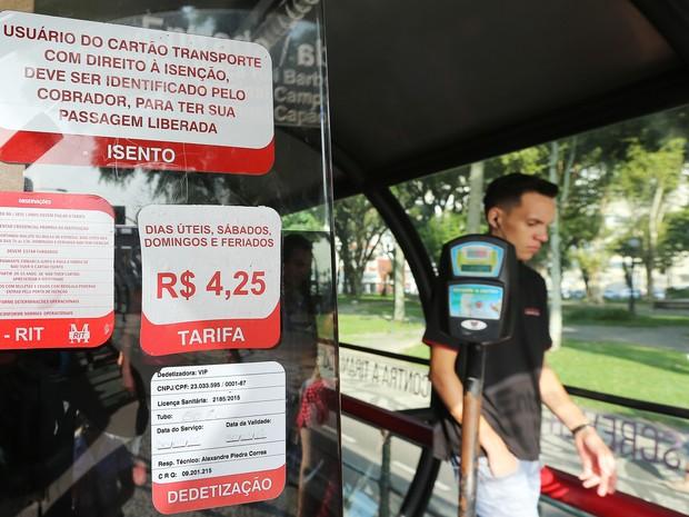 Prefeitura reduz passagem de 4,25R$ para 2,90R$