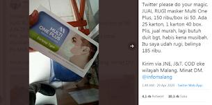Penimbun Masker Medis ini Viral di Twitter