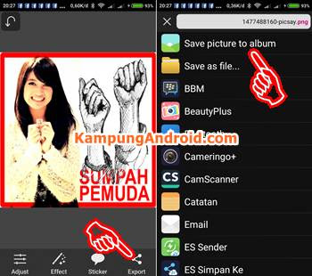 hasil edit foto Hari Sumpah Pemuda di picsay pro picsart