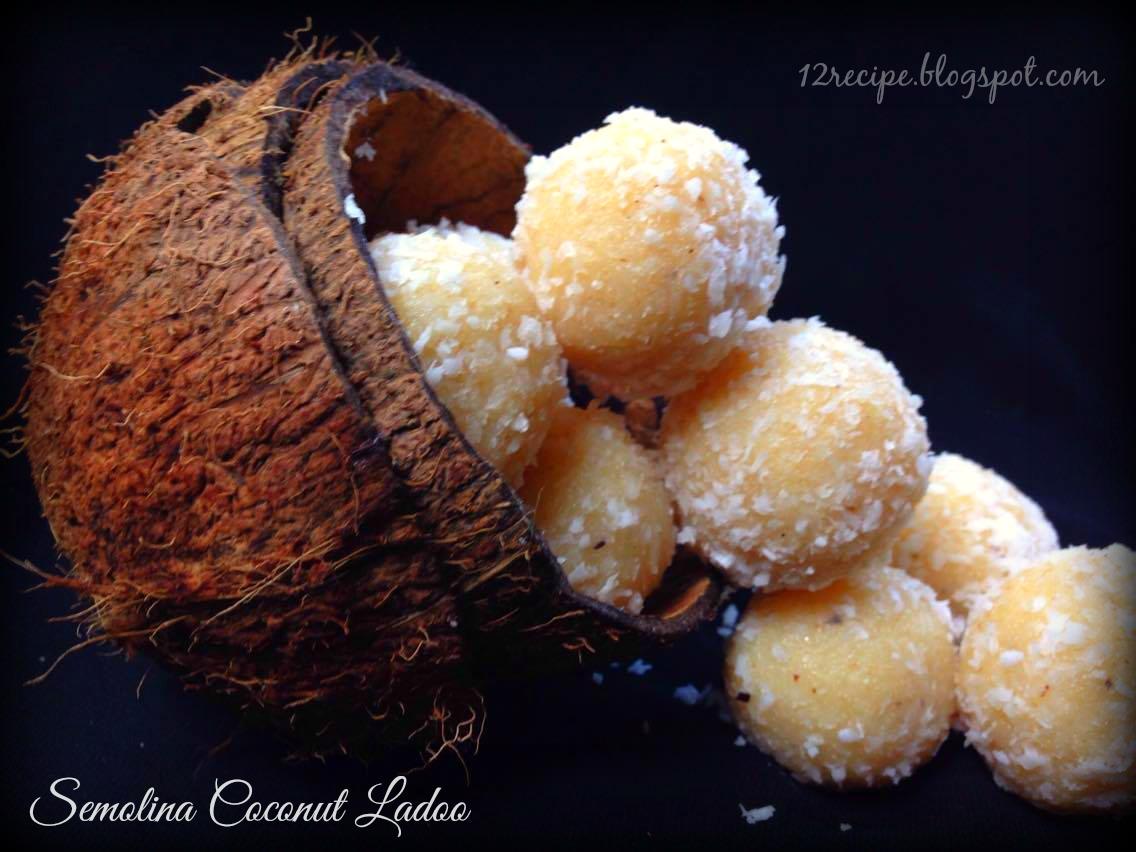 Semolina Coconut Ladoo
