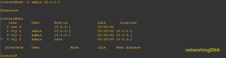 Ssh To Router Command