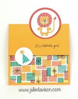 Stampin' Up! Birthday Bonanza Buddies Flap Fold Card ~ 2020 Spring Mini Catalog ~ www.juliedavison.com