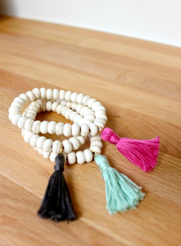 Χειροποίητα Βραχιόλια με φούντες / DIY Tassel Bracelet