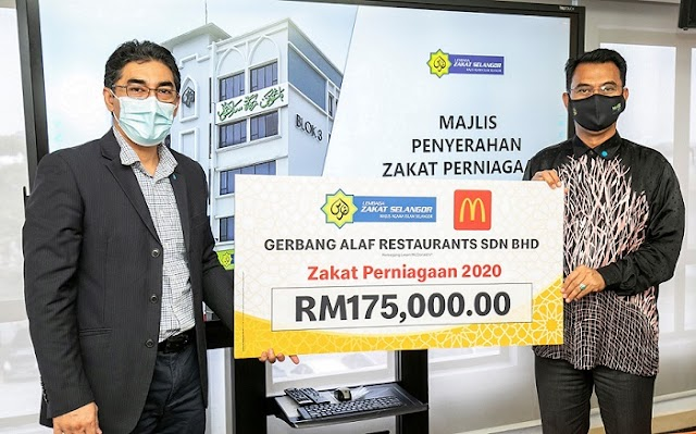 McDonald's Malaysia contributes RM1 million in zakat for 2020