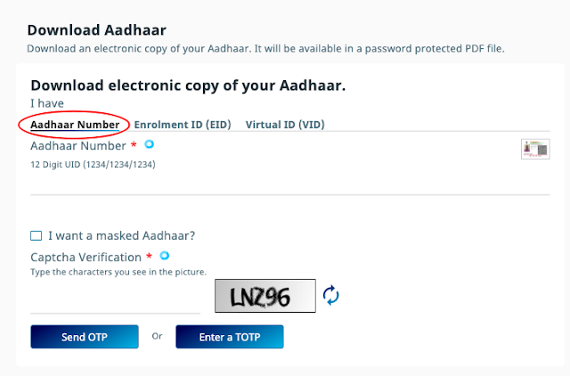 aadhar card download