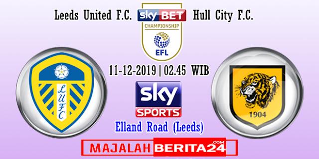 Prediksi Leeds United vs Hull City — 11 Desember 2019
