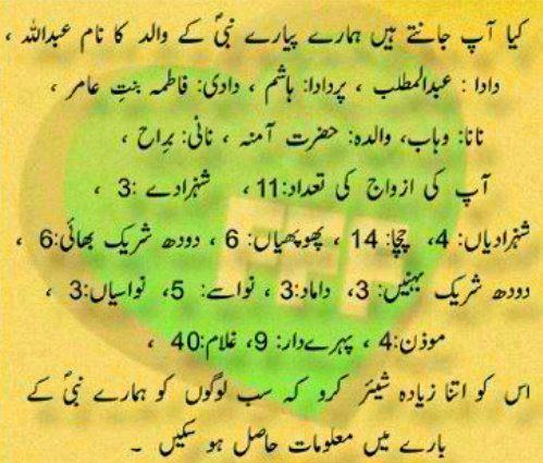 Hazrat Muhammad Aqwal E Zareen In Urdu
