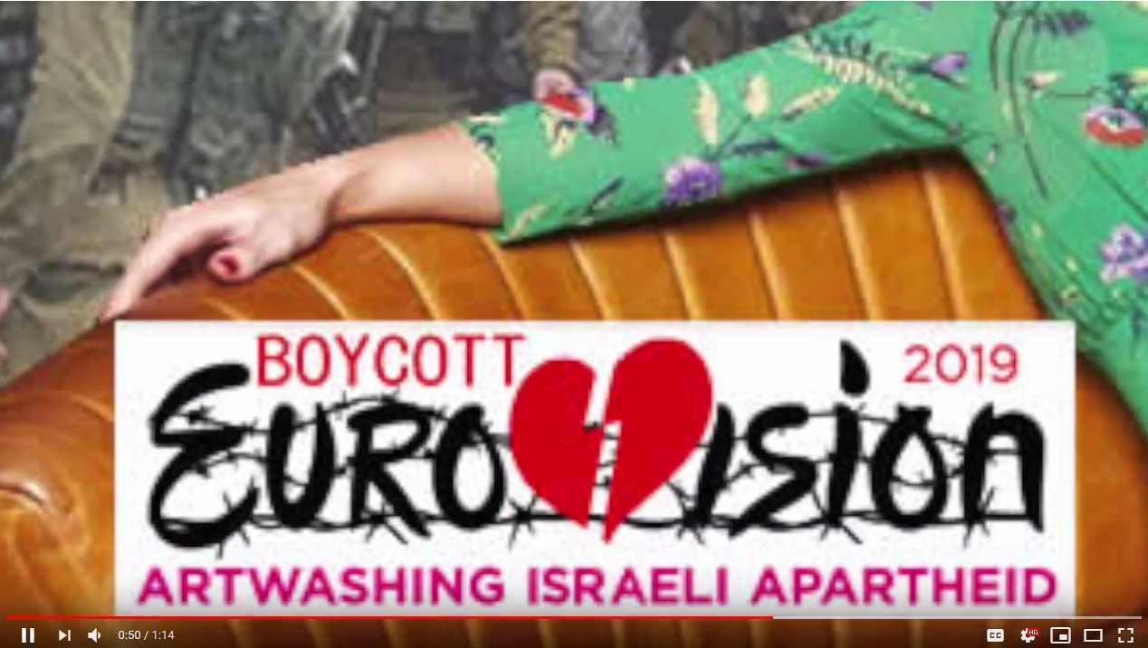 Tony Greenstein Blog: Tony Greenstein's Blog: Boycott Eurovision 2019 In Israel
