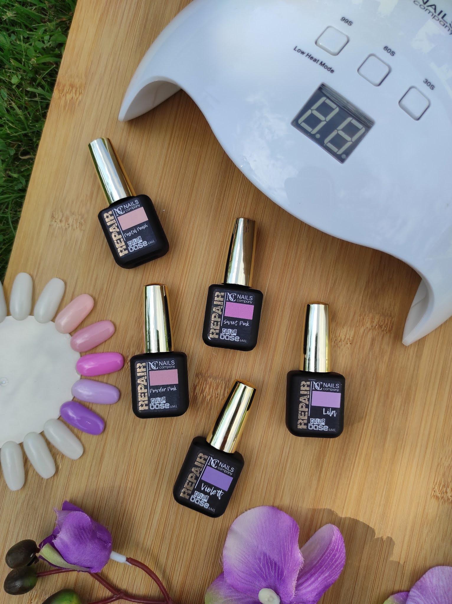 Repair color base - kolorowe bazy do paznokci od NC Nails Company