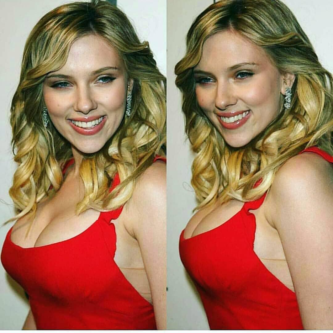Scarlett Johansson hot cleavage pics