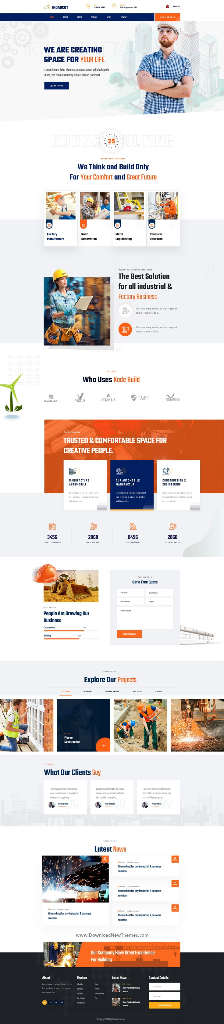 Industrial PSD Template