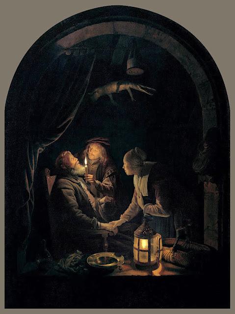 Gerrit Dou ( 1613-1675) L'Arracheur de dents (1630-1635) Huile sur bois, 32 × 26 cm Musée du Louvre, Paris
