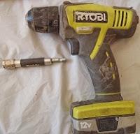 Ryobi 12-Volt Cordless Drill with Makita Bit Holder