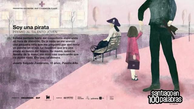 """Relato sobre el estallido social se alza con el premio del público en """"Santiago en 100 Palabras"""""""