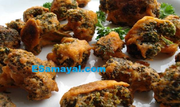 ப்ராக்கோலி பஜ்ஜி செய்வது | Broccoli Bajji Recipe !