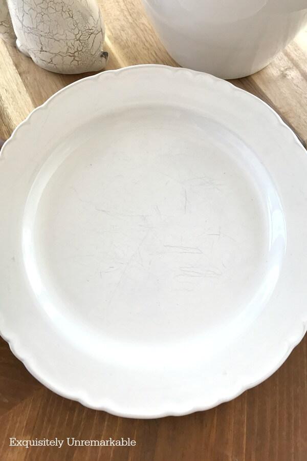 Pottery Barn Napoli White Plate