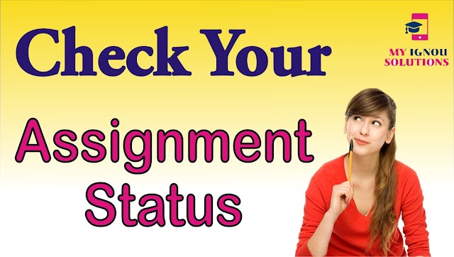 Check You Assignment Status 2020