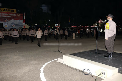 Songsong New Normal, Gugus Tugas Covid 19 Gelar Apel Gabungan di Mapolda Jambi