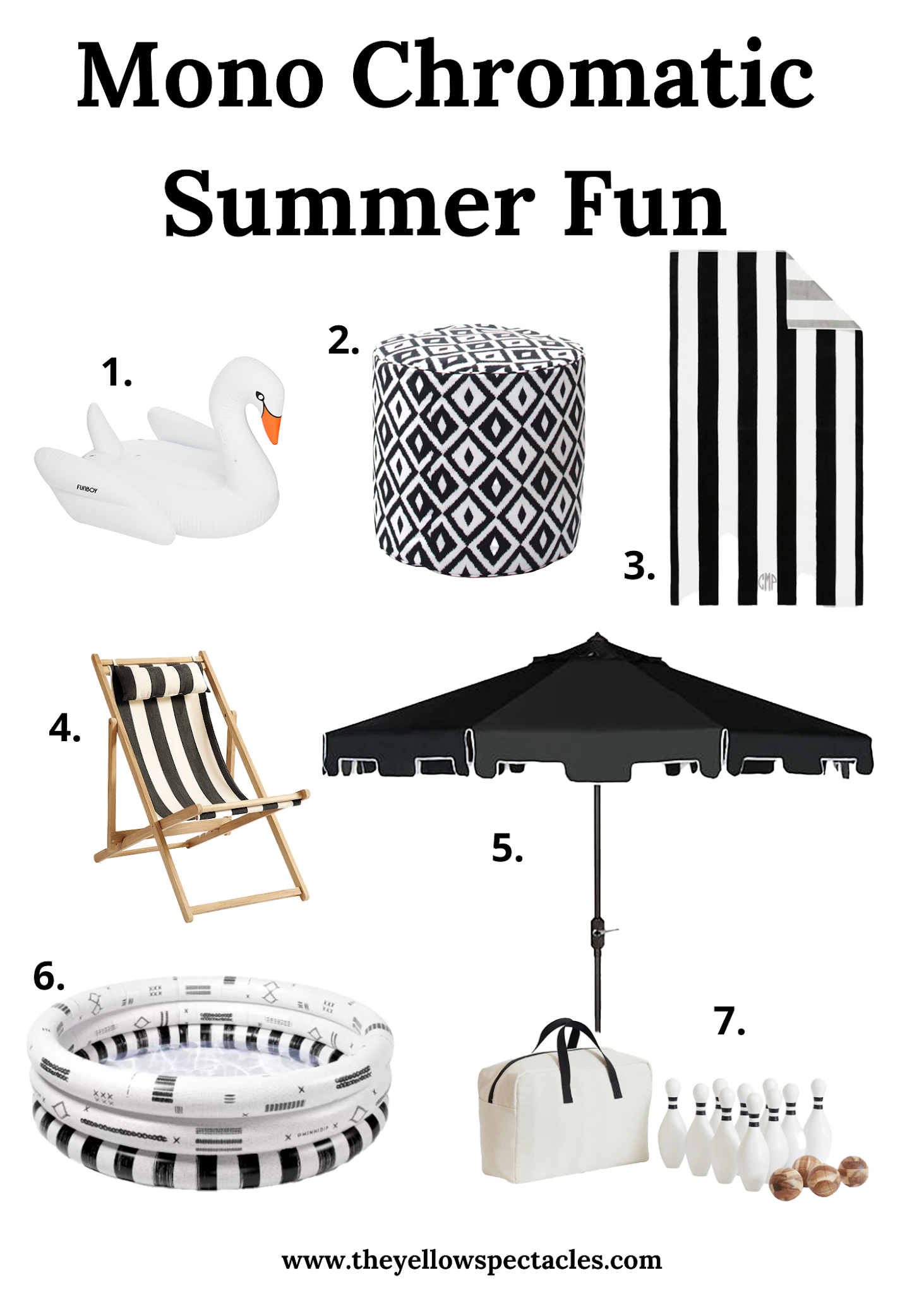 Black and White Outdoor Decor