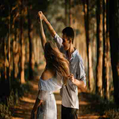 two lover dancing together