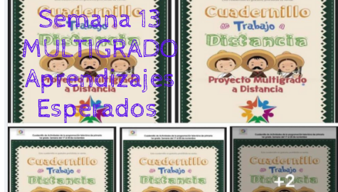 Cuadernillo Multigrado Semana 13 del 16 al 20 de noviembre