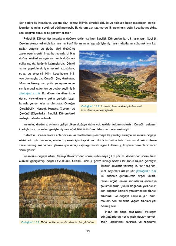 9. Sınıf Coğrafya Ders Kitabı Cevapları Fersa Yayınları Sayfa 13