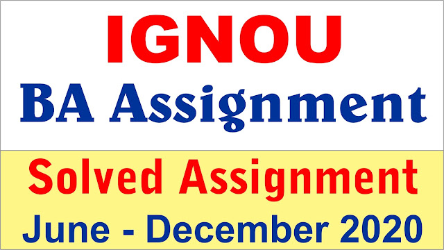 ignou ba assignment