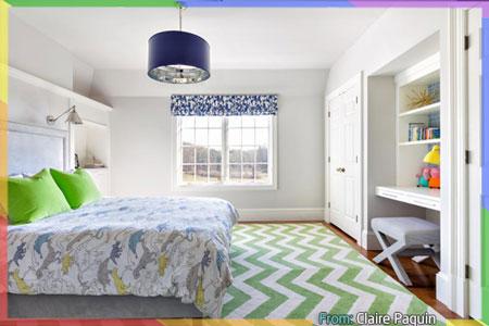 غرفة نوم عصرية بالأخضر التفاحي