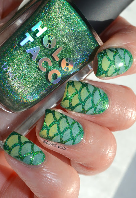 Holo Mermaid Nail Art