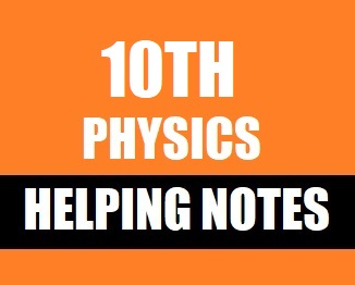 10th Class Physics Helping Notes of All Chapters
