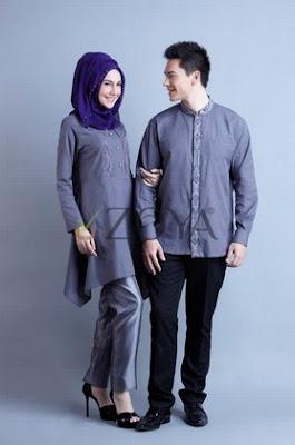 25 Model Baju Muslim Couple Zoya Gamis Dan Koko Terbaru