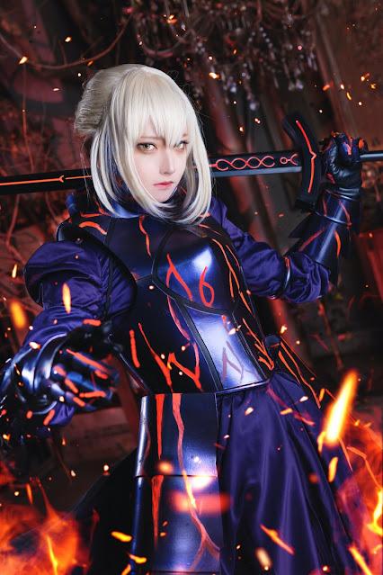 Matsuna cosplayer cantik saber fate