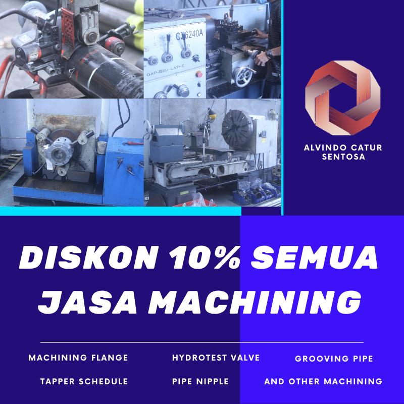 jasa machining flange valve fitting