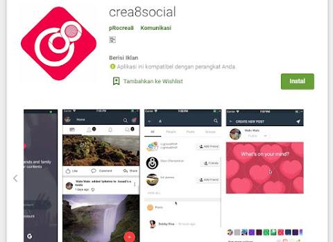 aplikasi crea8social mirip facebook