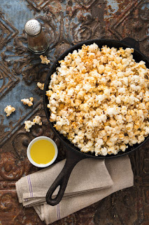 Bacon Popcorn Drizzled with Creole-Spiced Butter
