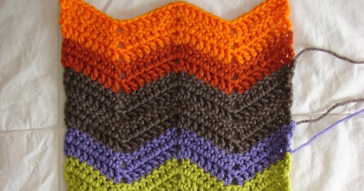 Crochet In Color Chevron Scarf Pattern