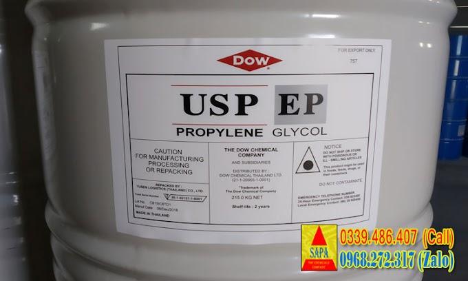 DUNG MÔI PROPYLENE GLYCOL - TIÊU CHUẨN DƯỢC 99.8% (PG USP/EP)