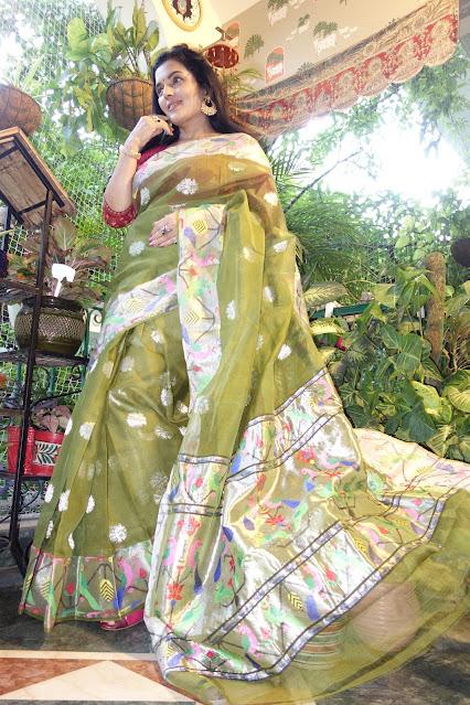 KotaDoria saree with pure zari