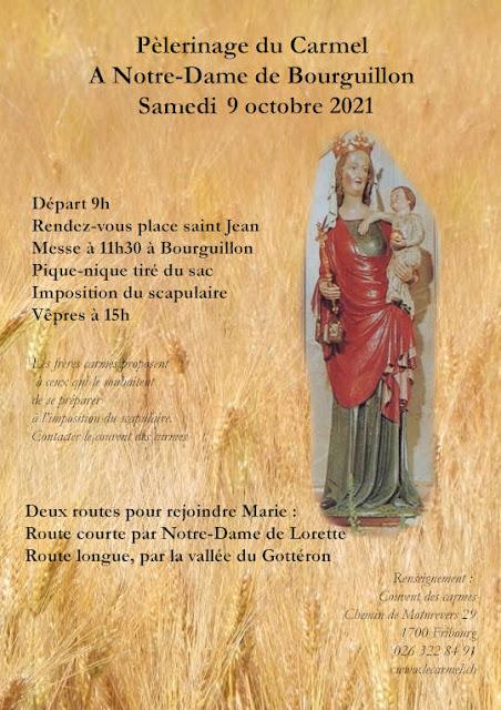 Pèlerinage Bourguillon 9 octobre 2021