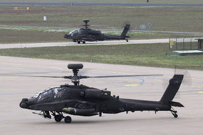 British Apache helicopters Eindhoven Netherlands
