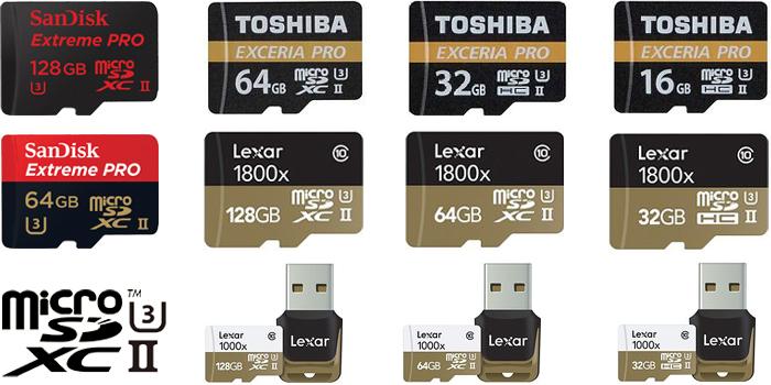 UHS-II対応マイクロSDカードの製品リストまとめ