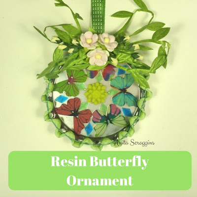 Do it yourself Resin Butterfly Ornament