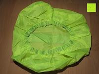 unten: Regenschutz für Rucksäcke Rucksackschutz Ranzen Regenschutz Rucksackcover Regenüberzug Neon Sicherheitsüberzug Reflektorüberzug