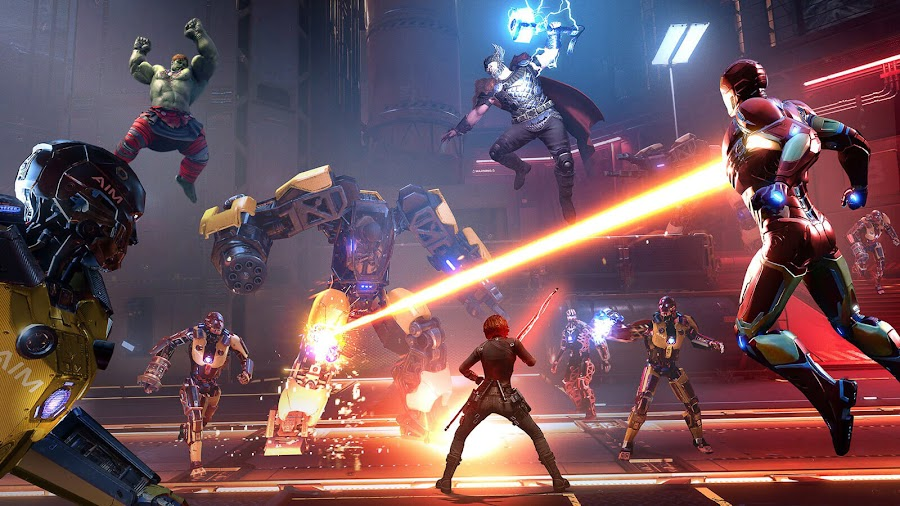 marvel super heroes reassemble marvel's avengers black widow hulk ms marvel iron man thor gameplay marvel games crystal dynamics eidos montréal square enix pc steam stadia ps4 xb1 xsx gameplay hero mission war zones