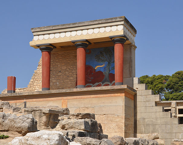 the archaeological sites of Knossos, crete, greece