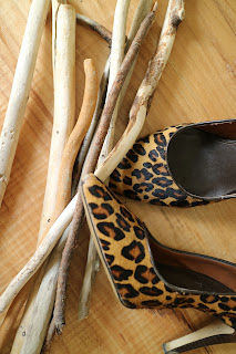 leopard print high heels driftwood
