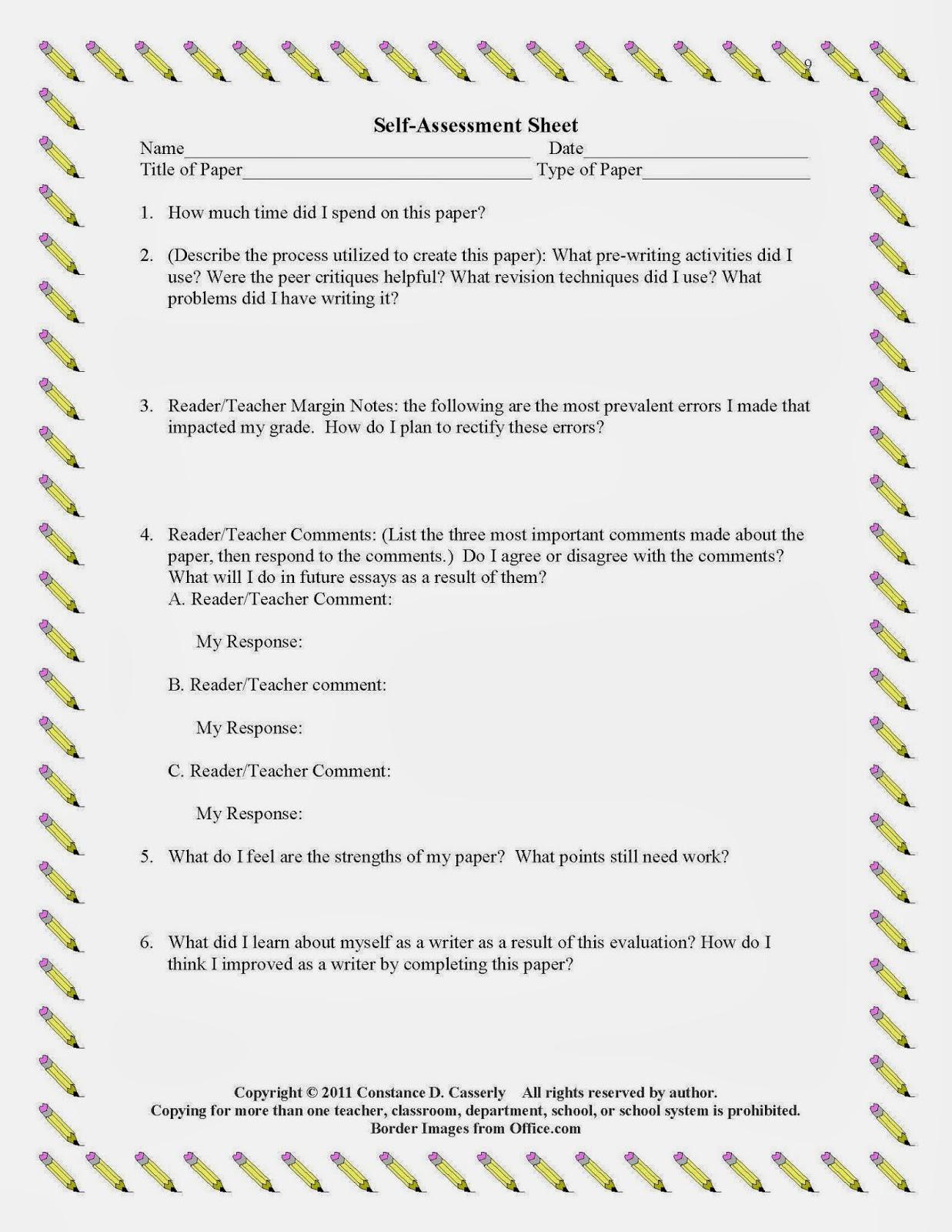 the best of teacher entrepreneurs language arts writing write  analytic writing made easy self assessment sheet
